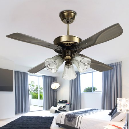 42 39 39 vintage ceiling fan with light kit with led e27 retro - Bedroom ceiling fans with remote control ...