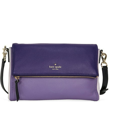 (Kate Spade Cobble Hill Marsala Leather Shoulder Bag - Oyster Blue / Multi)