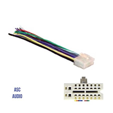 ASC Audio Car Stereo Radio Wire Harness Plug for select Clarion 16 on 12 pin voltage regulator, toyota stereo wiring harness, 12 pin power supply,