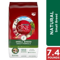 Purina ONE Natural Small Breed Dry Dog Food, SmartBlend Small Breed Lamb & Rice Formula, 7.4 lb. Bag
