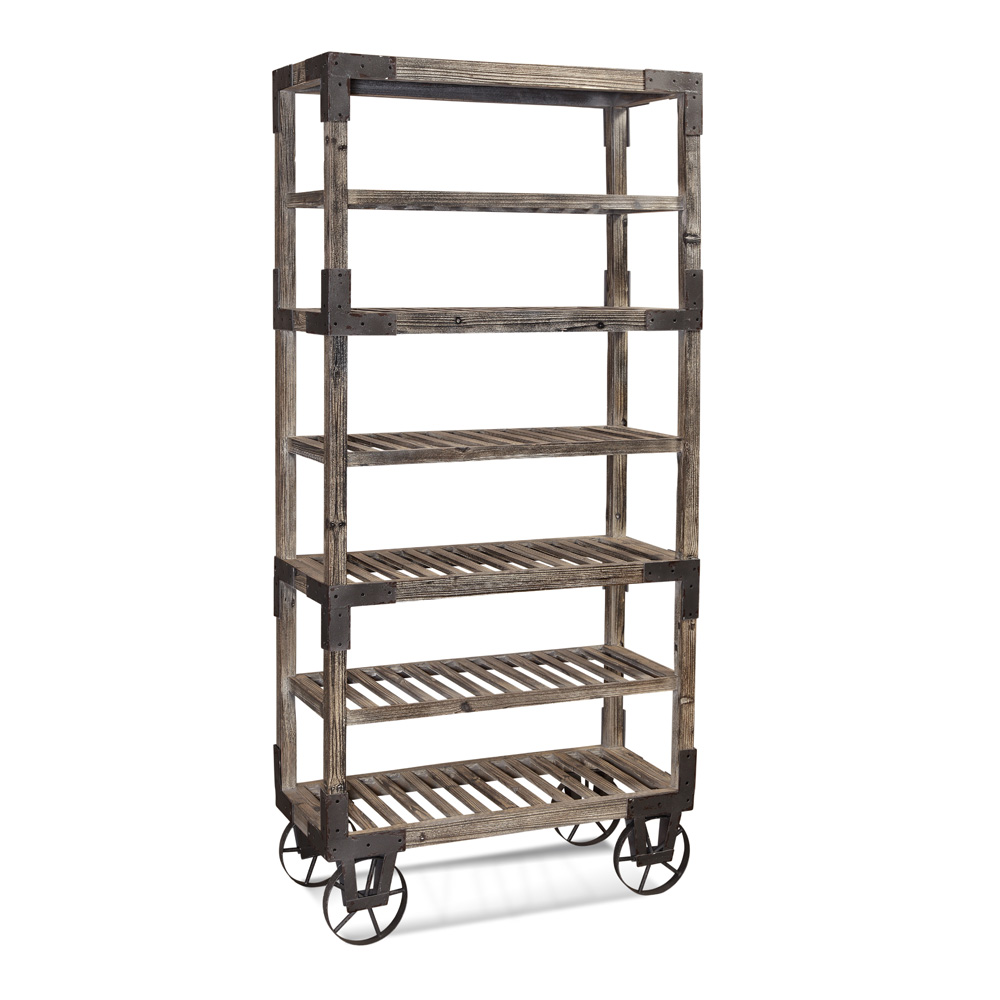 Bassett Easy Living Foundry Rack in Weathered Gray by