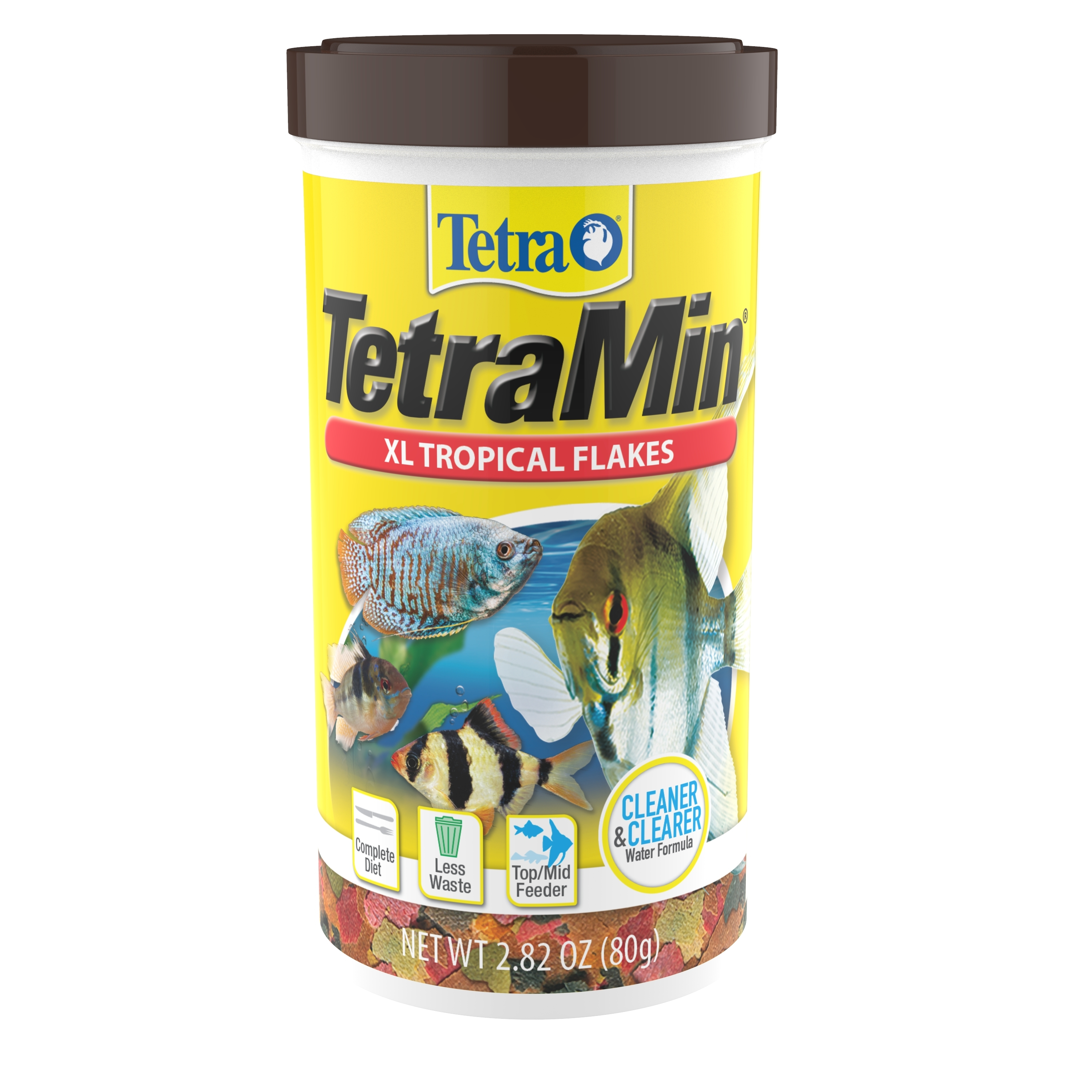 Tetra TetraMin Large Tropical Fish Flakes, 2.82 Ounce