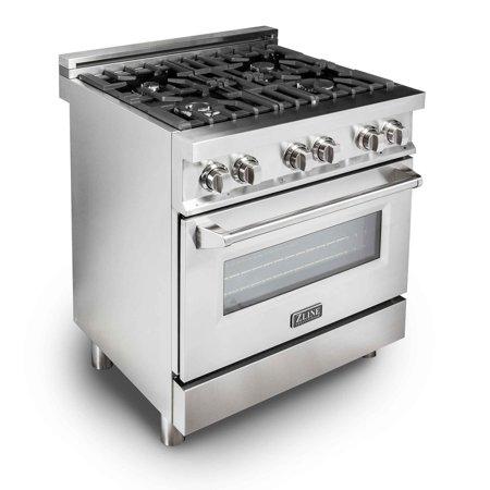 zline kitchen and bath zline 30 in. 4.0 cu. ft. 4 gas burner ...