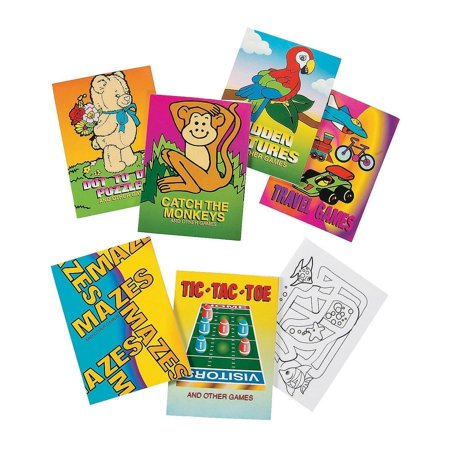 Mini Game Books For Kids - Pack Of 12 - 24 Pages Each 3.5 X 2.5 Inches, Assortment Of Educational Brain Games - Activity Book – Great Party Favors, Bag Stuffers, Fun, Gift, Prize – By Kidsco (Fun Kid Halloween Party Games)