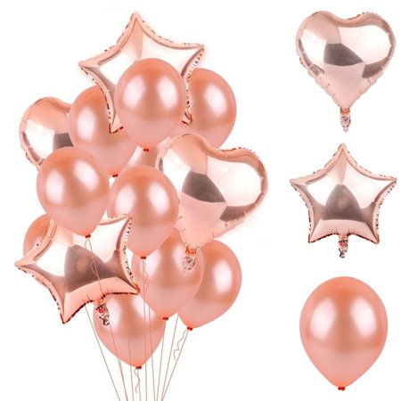14Pcs Wedding Supply Rose Gold Balloon Confetti Foil Happy Birthday Party Decorations](18th Birthday Confetti)