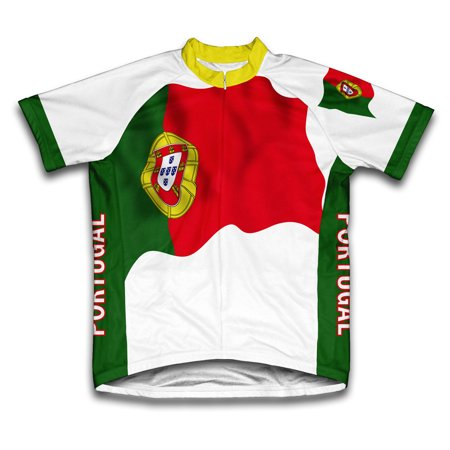 Portugal Flag Short Sleeve Cycling Jersey  for Men - Size XS
