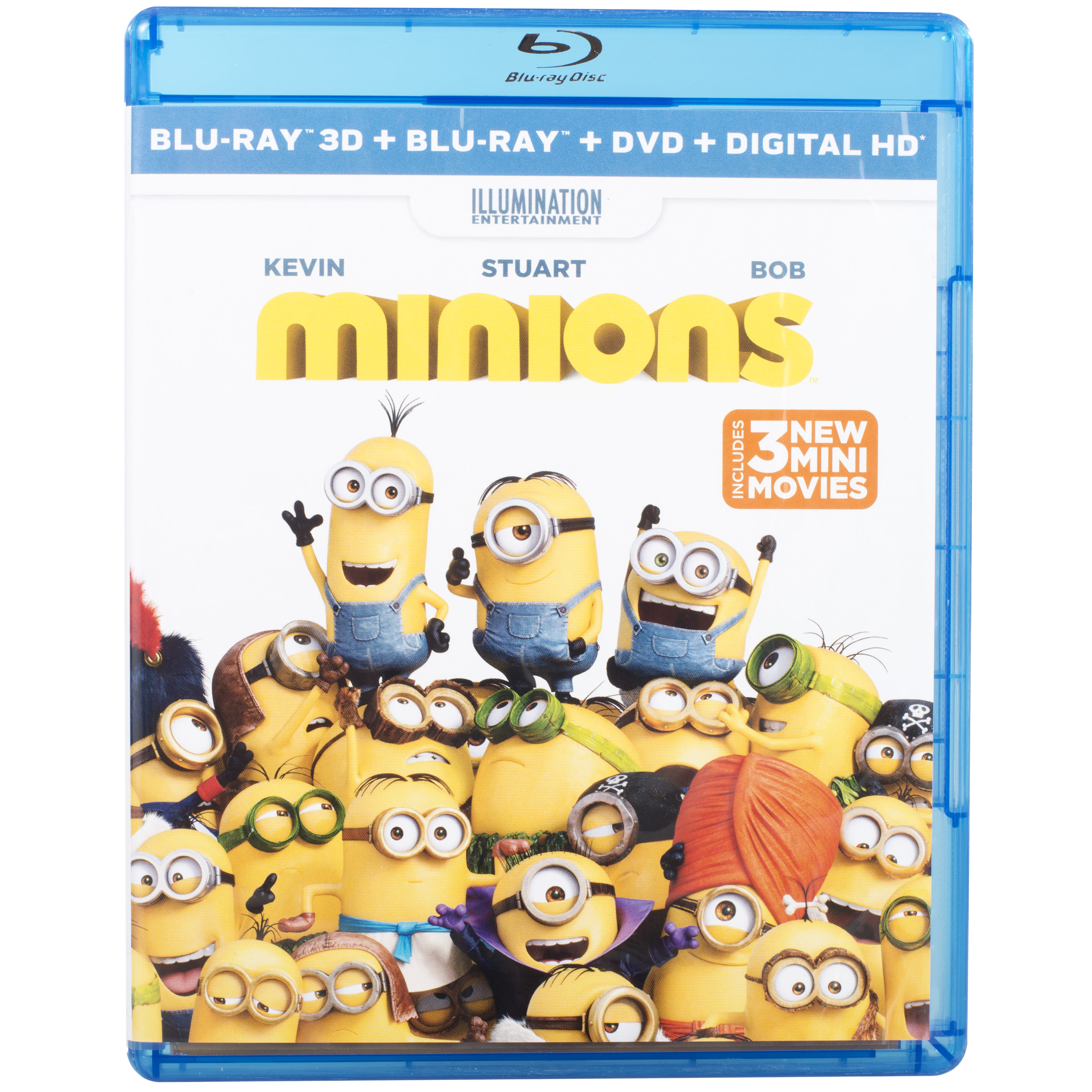 Minions 3D Blu-ray + Blu-ray + DVD + Digital HD