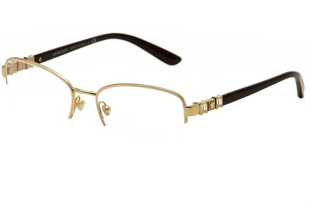 Versace Eyeglasses 1230-B 1230/B 1002 Gold/Black Semi-Rim Optical ...