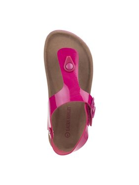 cc83b8763fea Product Image Laura Ashley O-LA81144MFUSP3 T-Strap Cork Lining Sandals for  Toddler Girls