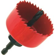 HOLE SAW W/MANDREL 2-1/4""