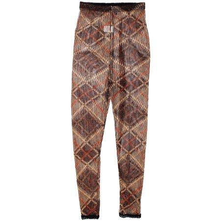 Sheer Striped Leggings (Size XS Elastic Waist Square Print Semi Sheer Striped Leggings Capris for)