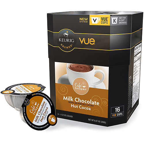 Caf� Escapes Milk Chocolate Hot Cocoa Vue Pack, 16/Box -GMT9321