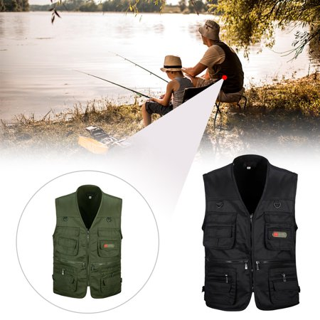 Mens Quality Bodywarm Waistcoat Safari Gilet Jacket Winter Outdoor Fishing Hunting Utility (Best Mens Jackets 2019)