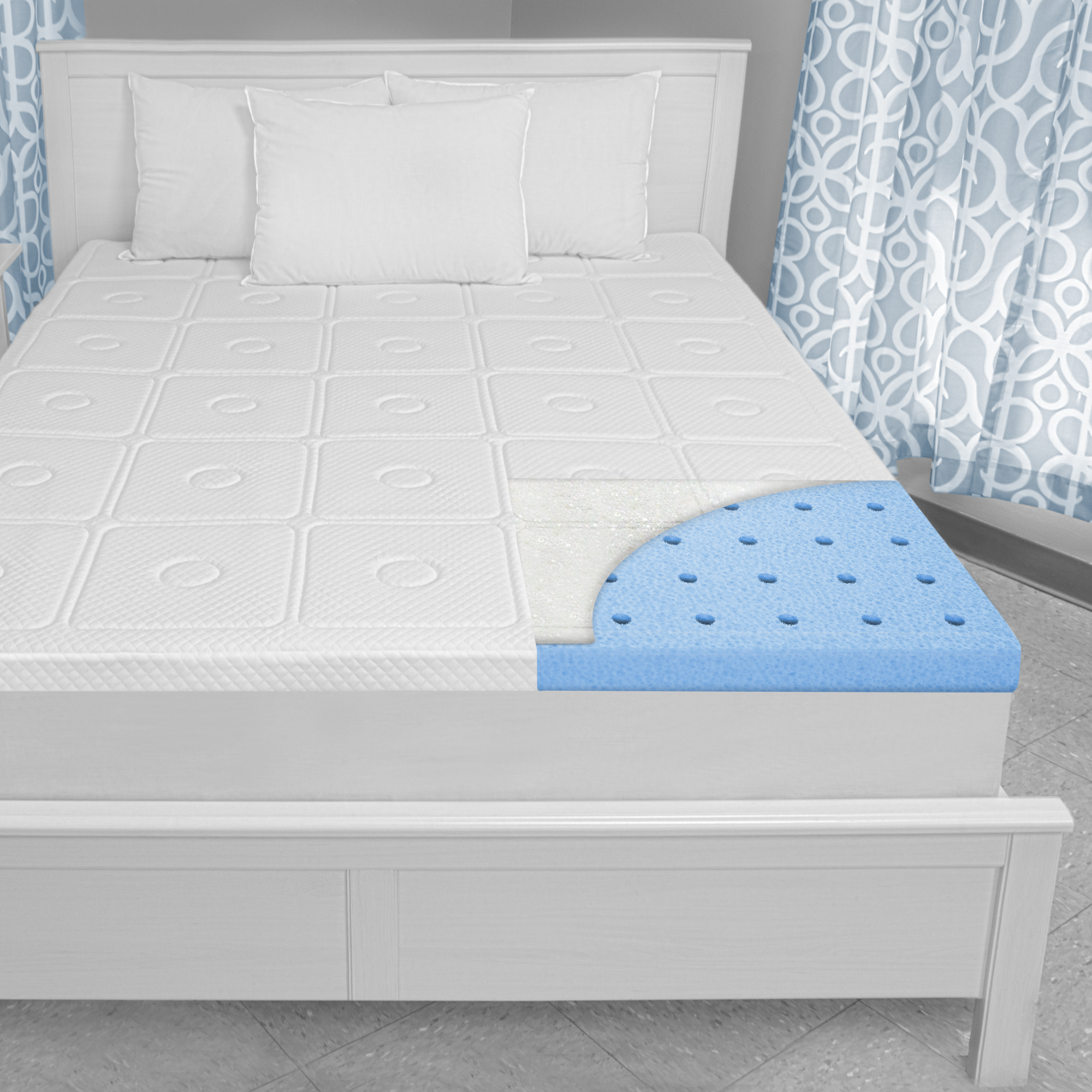 "BioPEDIC Extreme Luxury 3"" Memory Foam Twin Mattress Topper"