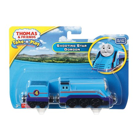 Gordon Big Express Engine - Fisher-Price Thomas & Friends Take-N-Play Shooting Star Gordon, Durable and streamlined die-cast Gordon engine By FisherPrice