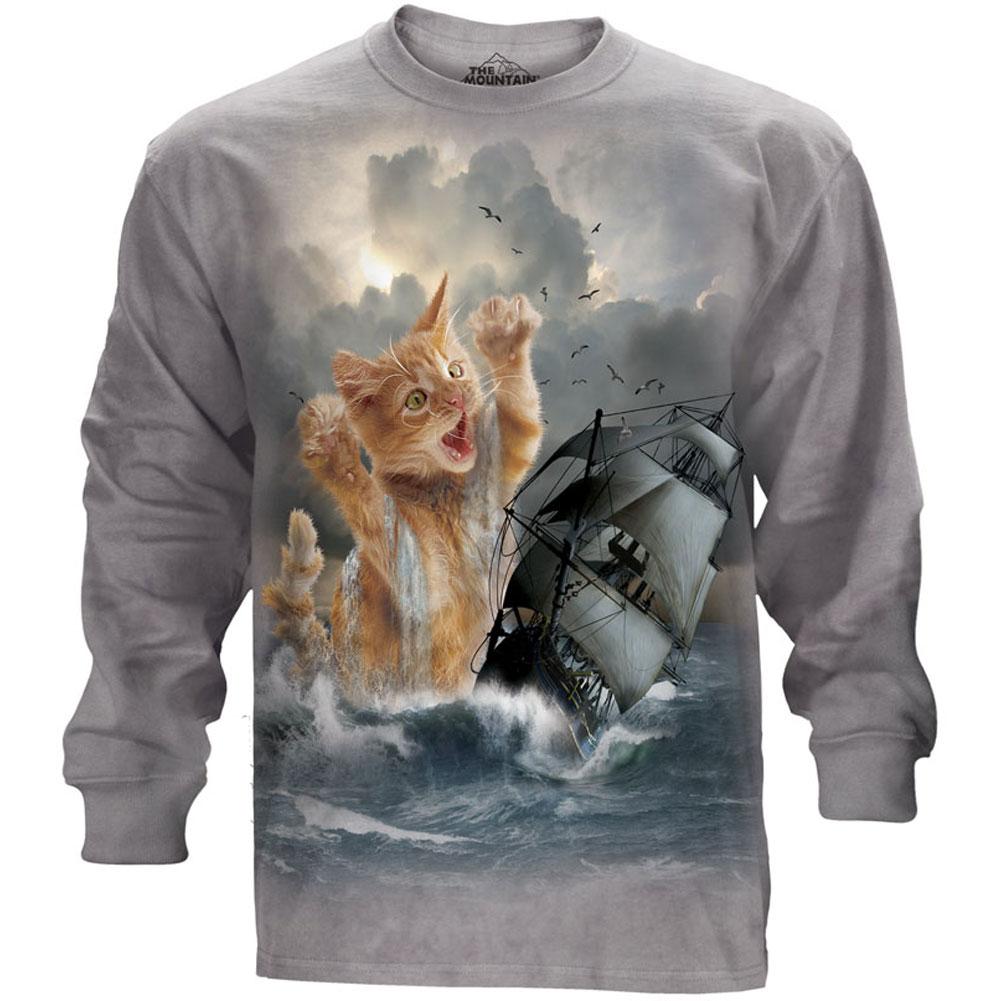 The Mountain Men's  Krakitten T-shirt Gray