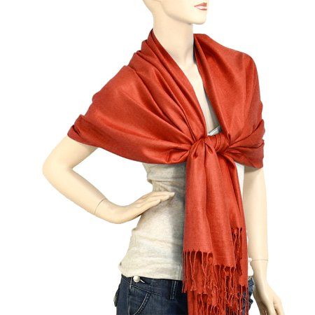 Falari Women's Solid Color Pashmina Shawl Wrap Scarf 80