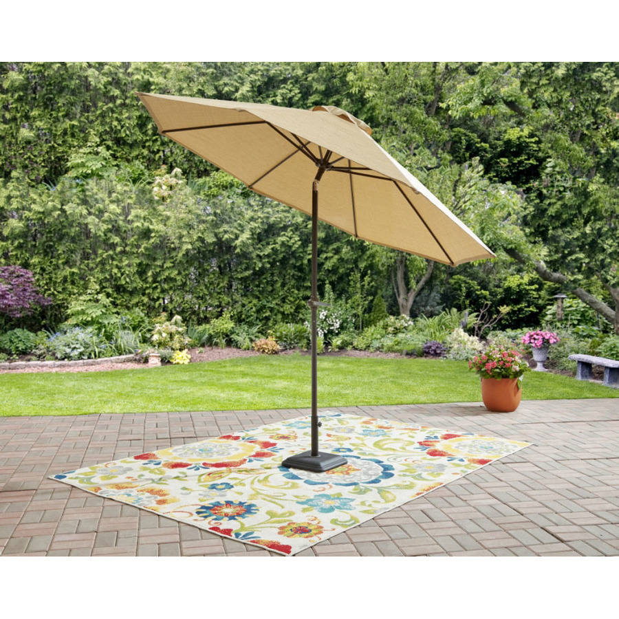 Mainstays Wesley Creek 9u0027 Umbrella With Tilt, ...