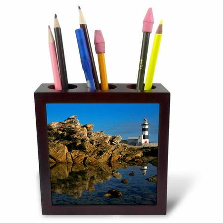 - 3dRose Lighthouse on Cape Recife, Port Elizabeth, Eastern Cape, South Africa., Tile Pen Holder, 5-inch