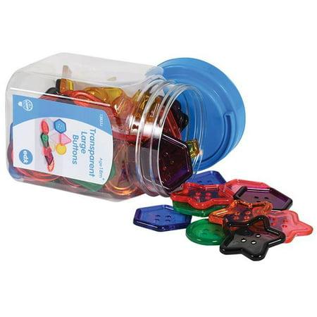 Learning Advantage CTU13833 Transparent Large Buttons Mini Jar - image 1 de 1