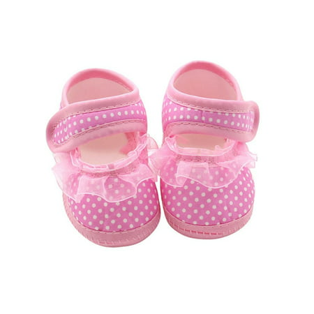 Babula Infants Baby Girl Casual Soft Crib Shoes Prewalker 0-18M