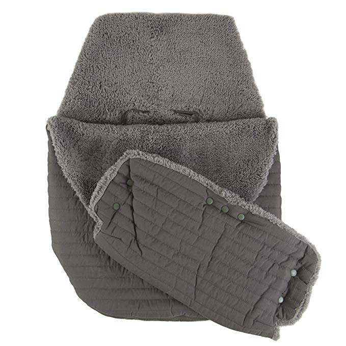 Tadpoles Quilted Stroller & Car Seat Cover with Hand Mitt, Dark Grey