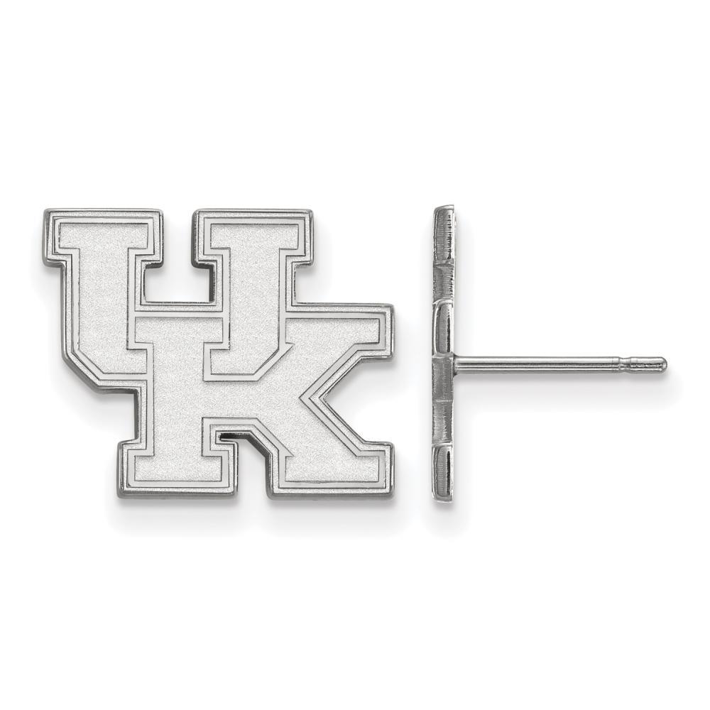 Kentucky Small (1/2 Inch) Post Earrings (14k White Gold)
