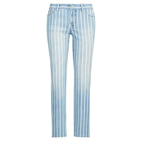 Lauren Ralph Lauren Womens Estate Stripe Straight Ankle Jeans 14 Blue Ralph Lauren Denim Bedding