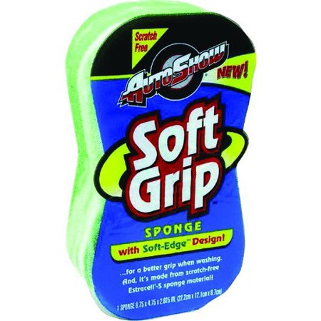 11802 Scratch Free Autoshow Soft Grip Utility Sponge, For a better grip when washing By Armaly - Soft Grip Sponge