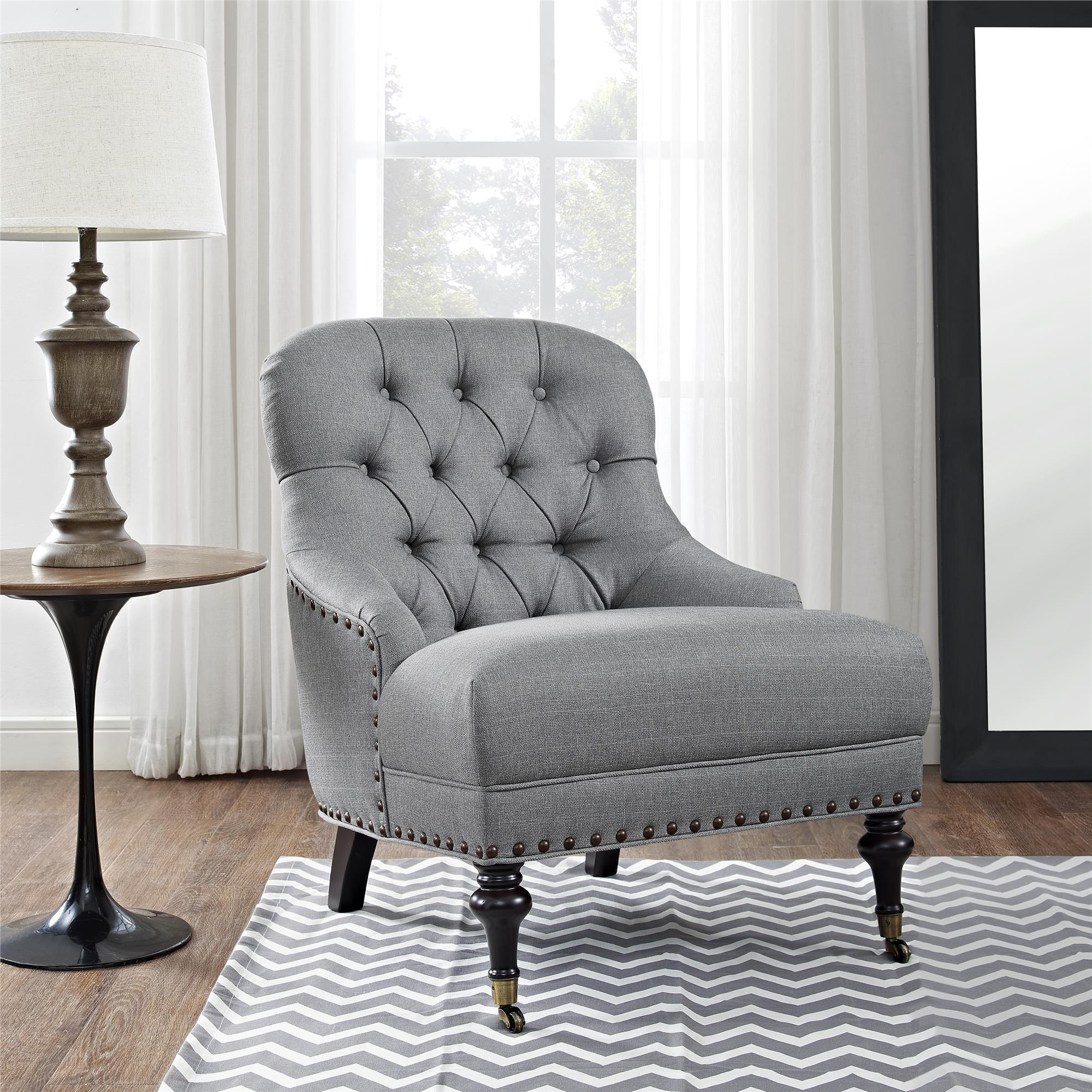 Awesome Tufted Accent Chair Set
