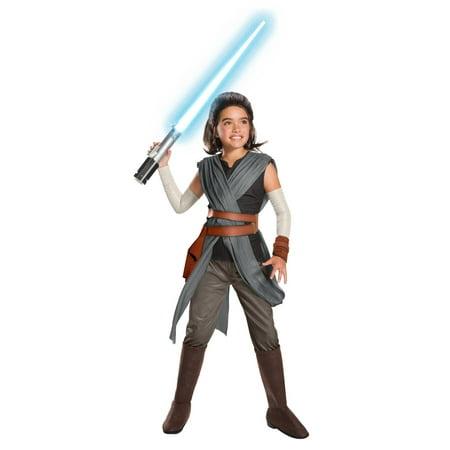 Star Wars Episode VIII - The Last Jedi Super Deluxe Girl's Rey Costume - Olivia Halloween Episode
