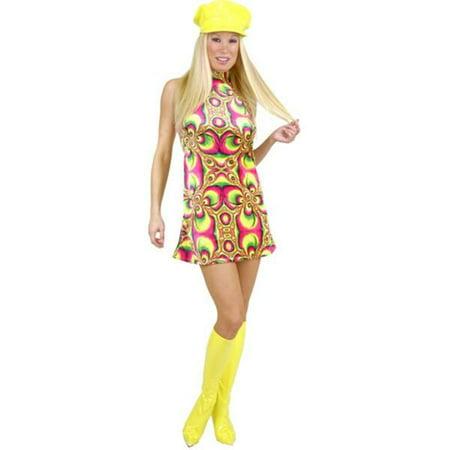 Adult Psychedelic Go Go Girl Costume Adult Go Go Girl