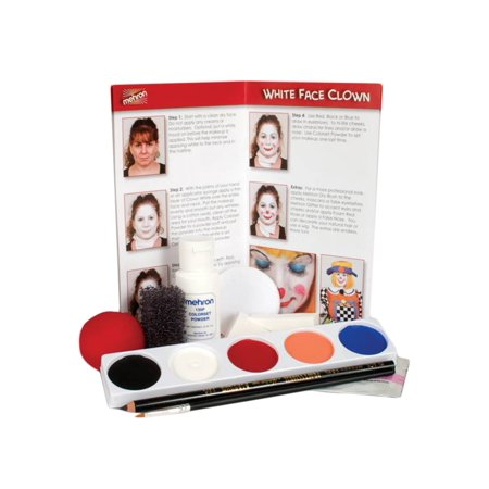 Mehron Clown Makeup Kits (5 Colors)