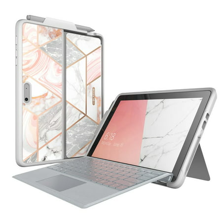 Microsoft Surface Go Case, i-Blason [Cosmo] Slim Glitter Protective Bumper Case Cover with Pen Holder Compatible with Type Cover Keyboard for Surface Go Tablet 10 Inch (2018 Release)