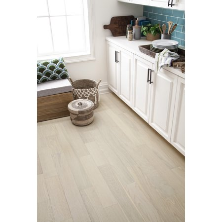 Antique Porcelain 5 in. Wide Engineered Wood with HPDC Vinyl Rigid Core Flooring (16.68 sq. ft. - 10 pcs per