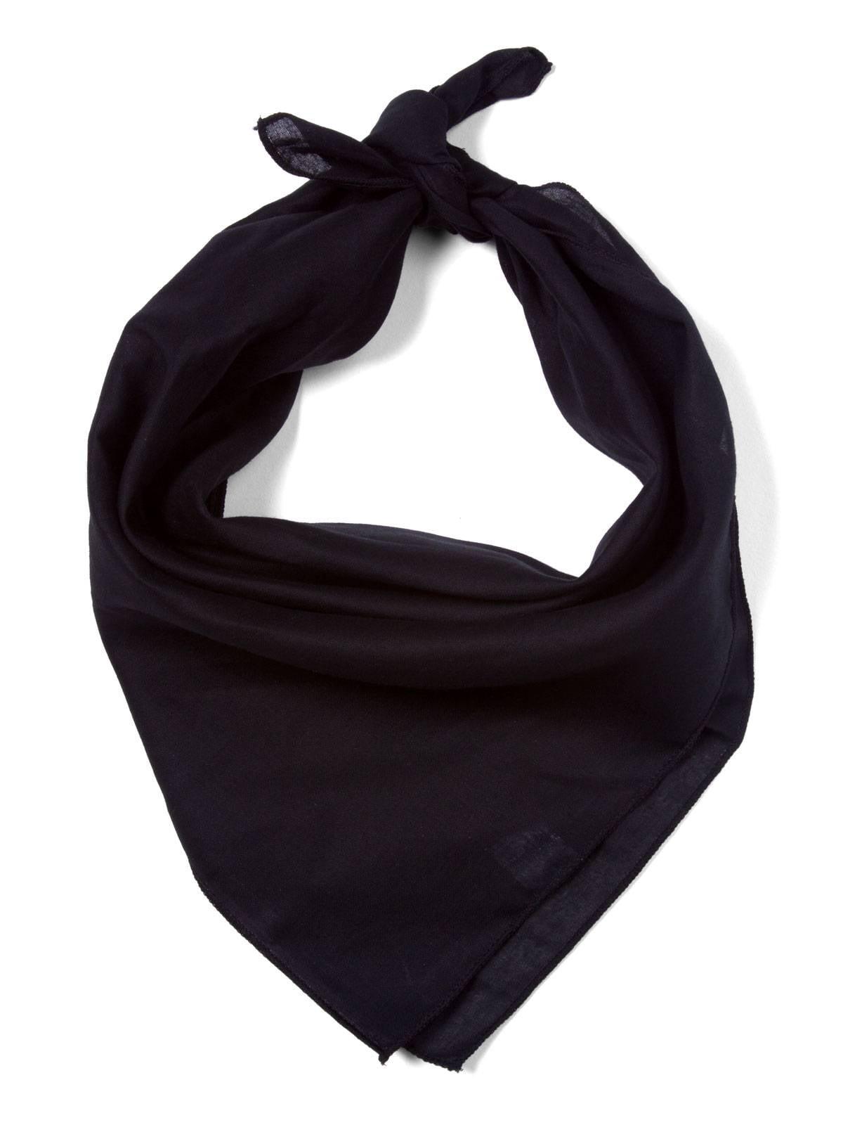 Plain BLACK cotton Bandana scarf by Girlyshop
