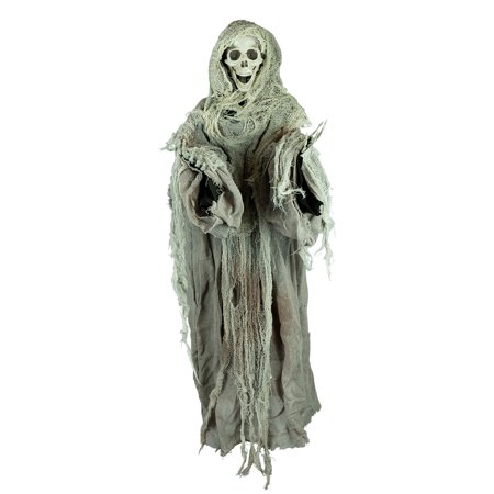 Cheapest Halloween Animatronics (Holidayana Animatronic Floating Skeleton - Motion Activated Halloween Decoration with Lighted Eyes and Scary)
