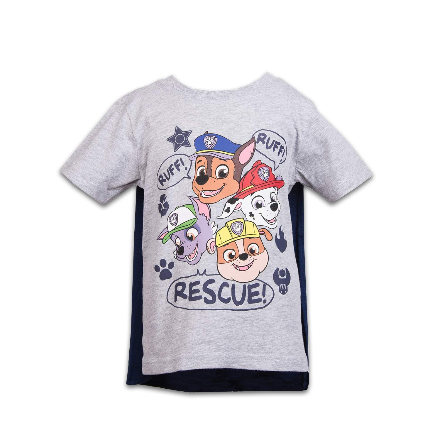Marshall Rubble /& Rocky Nickelodeon Paw Patrol Boys 4 Pack Tees Chase