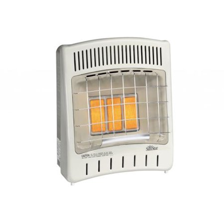 - Manual Control 16500 BTU Infrared Radiant LP Gas Vent Free Heater
