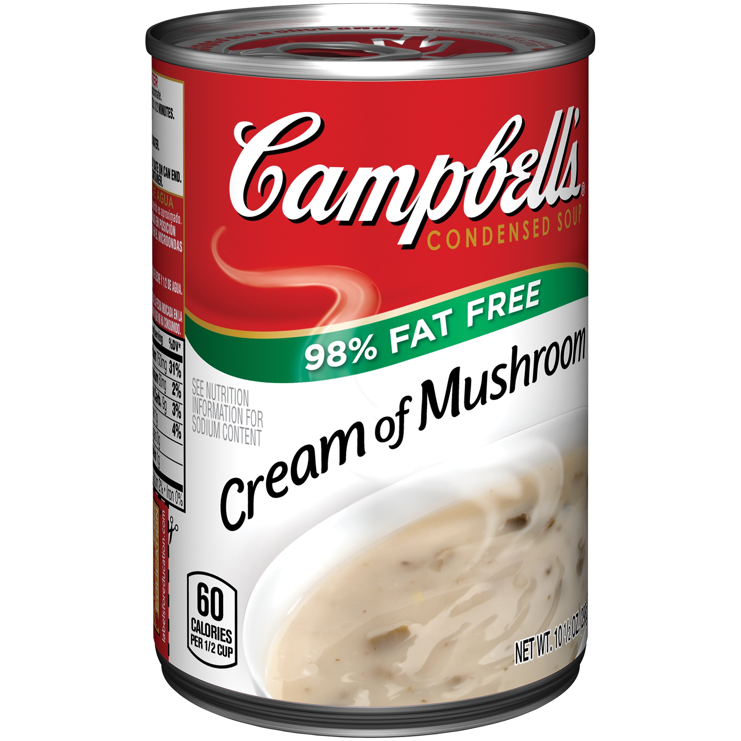 Campbell's 98% Fat Free Cream of Mushroom Soup 10.5oz by Campbell Soup Company