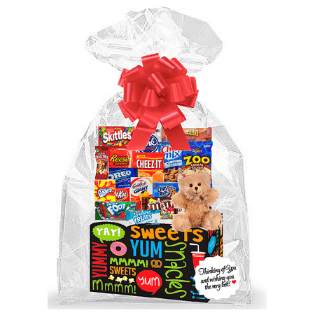 Sweet Yum Kids Thinking Of You Cookies, Candy & More Care Package Snack Gift Box Bundle Set - Arrives in 3-4Business Days