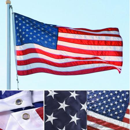 AGPtek American Flags 3' x 5'  USA Flag Embroidered (George Bush Usa Flag)