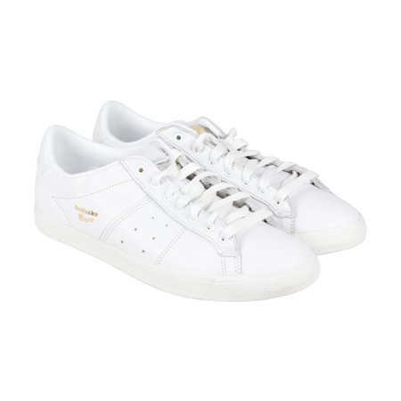 reputable site 2e181 107e1 Onitsuka Tiger Lawnship Mens White Leather Lace Up Sneakers Shoes