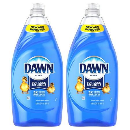 (2 Pack) Dawn Ultra Dishwashing Liquid Dish Soap Original Scent 28 fl