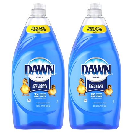 (2 Pack) Dawn Ultra Dishwashing Liquid Dish Soap Original Scent 28 fl oz