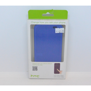 New OEM HTC Dot View Imperial Blue Case For HTC One (M8)