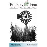 "Prickley Pear Cling Stamps 3""x2.5""-Windmill"