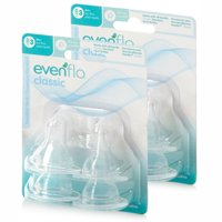 Evenflo Classic Fast Flow Silicone Nipples 4 ea (Pack of 2)