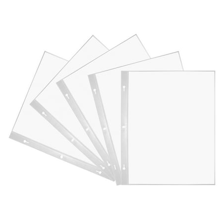 Pioneer Photo Albums 8.5x11 Top Loading Scrapbook Refills, White Album Refill Pages Book Fold