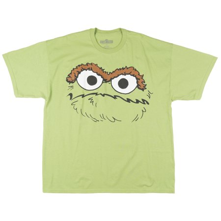 025d48cb LICENSED - Sesame Street Oscar the Grouch Big Face Mad Mean Tee Graphic Top  Mens Green 2XL - Walmart.com